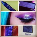Glittery Purple Cat Eye