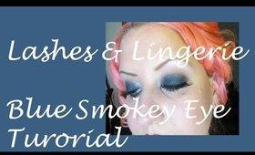 HeavenlyMakeUp | Lashes & Lingerie: Dark Blue Smokey Eye Tutorial
