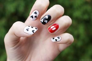 Inspired by Christa/ChrissyAi's Mickey manicure! http://www.beautylish.com/Chrissy or http://www.chrissyai.com/