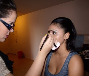 Gun metal shadow, Under eye cover up ,highlighting and contouring