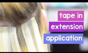 Tape In Hair Extensions - Application | Instant Beauty ♡
