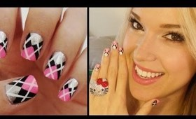 Easy Argyle Print Nails!!!
