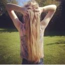 my blonde hair