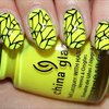Black & Yellow Nail Art
