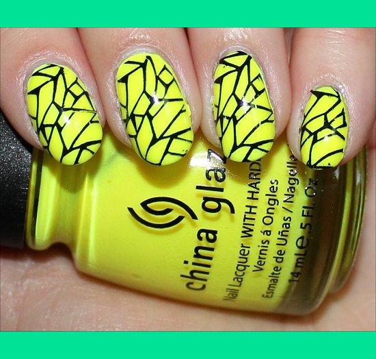 Black Yellow Nail Art Mary Ss Swatchandlearn Photo Beautylish