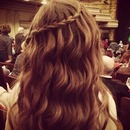 Waterfall Braid with Curls :)