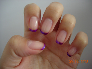 Metallic purple tips