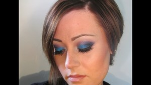 Ocean Blue Metallic Eye Shadow