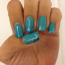 Blue with glitter accents
