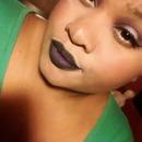 Dark Lips & Purple Eyes