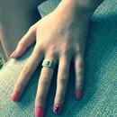 Nail art on fourth finger
