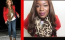 Make Her Style Mine: Beyonce OOTD Inspired Fall Fashion:I: Red Blazer Jeans Scarf