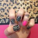 leopard nails xx