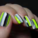 Color Blocked Neon Stripes