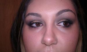 tried some tricks with black eyeshadow
