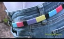 Spring DIY: Color-Blocked Belt!