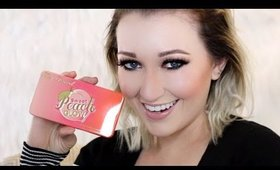 NEW Too Faced Sweet Peach GLOW Palette- Try-On & First look [SPARKMAS Day 3]