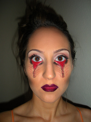 zipper eyes :)