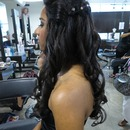 Waterfall Braid w/ Curls