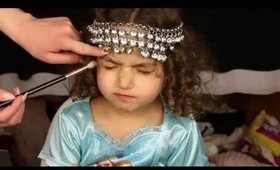 Cutest Little Girl Attempts Makeup Tutorial