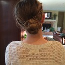 Messy braid to bun