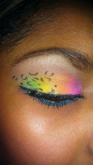 My variation of KlairedelysArt's Acid Leopard Makeup