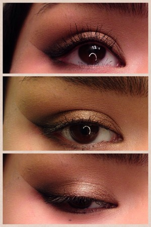 This is the look for my next video coming out on monday. It is a bronze smoky eye with a dramatic outer edge.