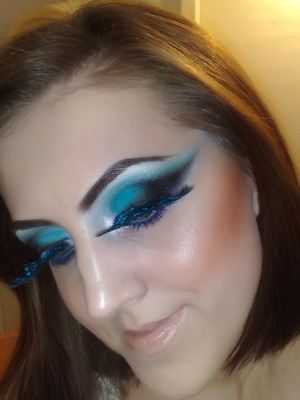 """Check my post on this """"Butterfly Eyes"""" makeup look with a short video slideshow: http://www.staceymakeup.com/2012/01/butterfly-eyes.html"""