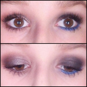 One day smokey eye, the other night (the one with the blue was based on a tutorial by thatgirlshaexo but I altered it the other is my own) Using Naked 3!