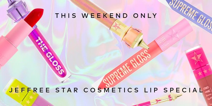 Save up to 50% on your favorite Jeffree Star Cosmetics lip products this weekend only!