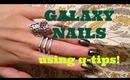 nail tutorial: GALAXY NAILS using q-tips! super easy!!