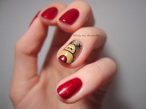 Inspired by The Nailasaurus :) http://arvonka-nails.blogspot.sk/2013/12/ako-u-arvonky-vianoce-zacali.html