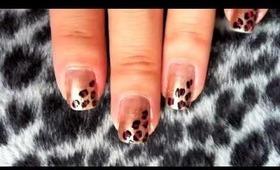Leopard print nail art tutorial (video)