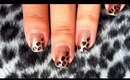 Leopard print nail art tutorial (video)