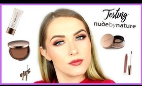 TESTING NUDE BY NATURE - FACE, LIPS & BROWS! | shivonmakeupbiz