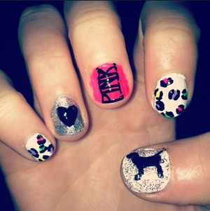 My version of Victorias Secret Nails!