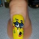 Spongebob acrylic nail