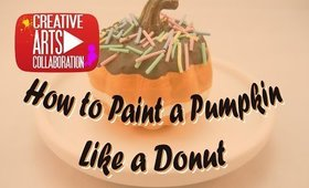 #LoveFallArt - How to paint a mini pumpkin to look like a donut
