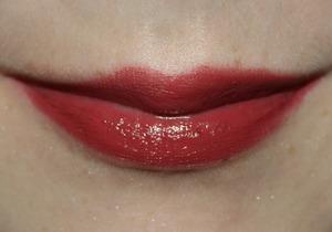 A close up of Ulta's Lipstick in Bit of Berry.