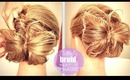 ★ BUTTERFLY BRAID BUN TUTORIAL PT1 | HAIRSTYLES FOR MEDIUM LONG HAIR | FRENCH FISHTAIL Holiday Updo
