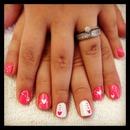 White & Pink (: