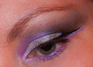 Violet New Year Glitter
