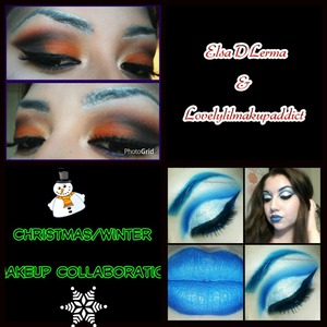 A makeup collab with the lovely Elsa! :)) Her inspiration was a snowman and mine was snow and ice!  @elsadlerma @lovelylilmakupaddict lovelylilmakupaddict.blogspot.com