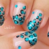 Metallic Teal Leopard