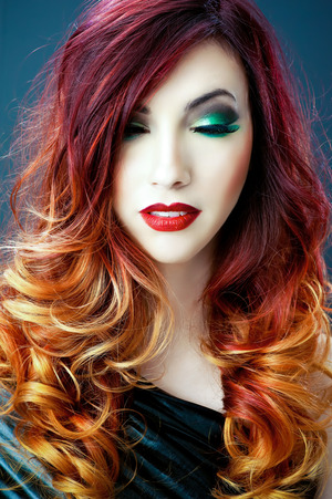 Color, cut and make-up by Tanya J.