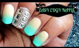 Studs and Beads Easy Edgy Nailart Tutorial.