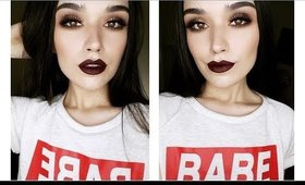 A Classic Vampy Holiday Look