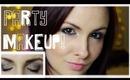 ♥ Christmas Party Makeup Tutorial ♥ Gold Smokey Eye