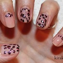 Nail Art using foil: leopard