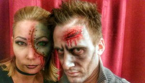 """our """"Last Minute"""" make up. Ideas from two great YouTube Videos."""